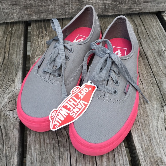 a5b6db649950 Gray   Pink Vans Sneakers! NEW!